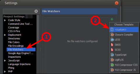 File watcher hozzáadása.